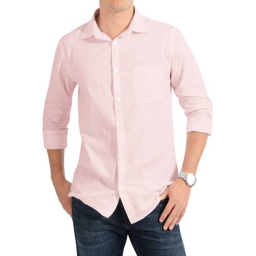 Camisa Manga Larga Jones Oxford Color Siete para Hombre - Rosa