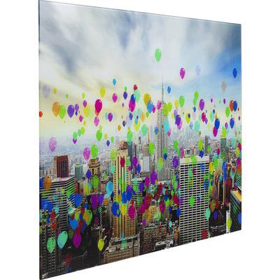 Cuadro cristal Balloons colores 80x60cm