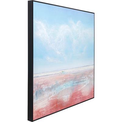 Cuadro lienzo Red Sea 100x100cm