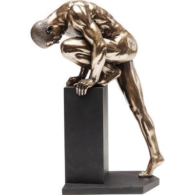 Objeto decorativo Nude Man Stand bronce 35cm