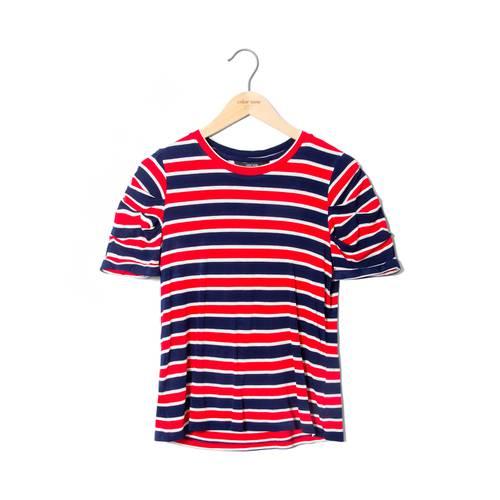 Camiseta Lili Color Siete Para Mujer  - Rojo