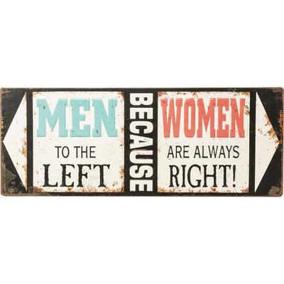 Cartel decorativo Men Because Women