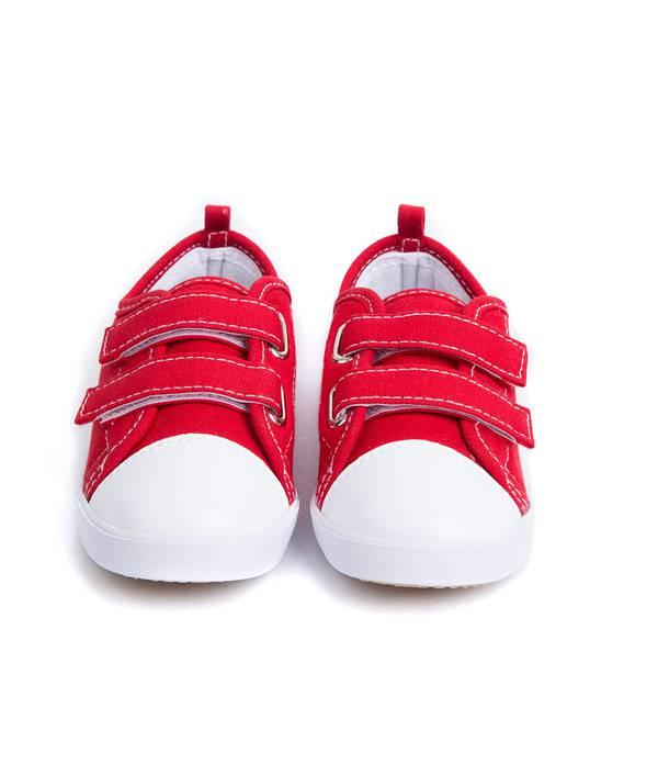 Tenis Rojos Con Velcro Caminador