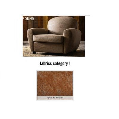 Poltrona Round, tela 1 - Appollo Brown (84x82x84cms)