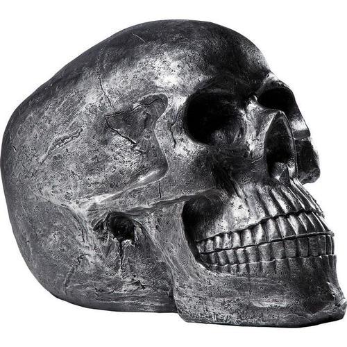 Objeto decorativo Skull plata Antique