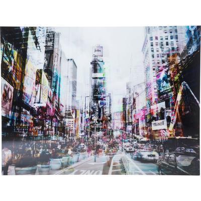 Cuadro cristal Time Square Move 120x160cm