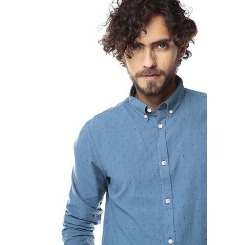 Camisa Manga Larga Jack Supplies para Hombre- Azul
