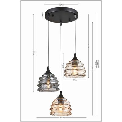 Lámpara Ruffle Visible Ø 37cm