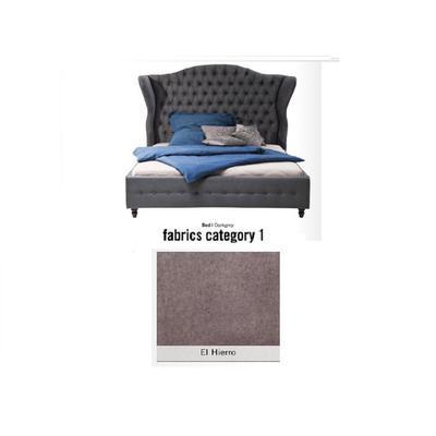 Cama City Spirit, tela 1 - El Hierro, (120x156x260cms), 200x200cm (no incluye colchón)