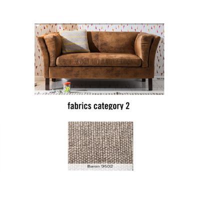 Sofá Canapee, 2 puestos, tela 2 - Baron 9502 (160x73x79cms)