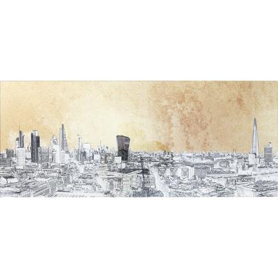Cuadro cristal Metallic London View 50x120cm