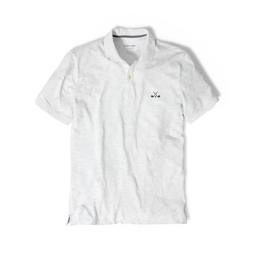 Polo Color Siete Para Hombre Gris - Golf