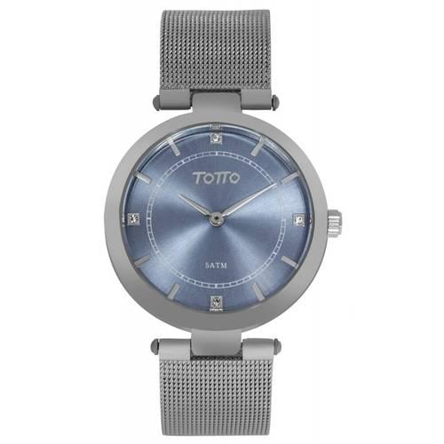Reloj análogo azul-plateado 24-4