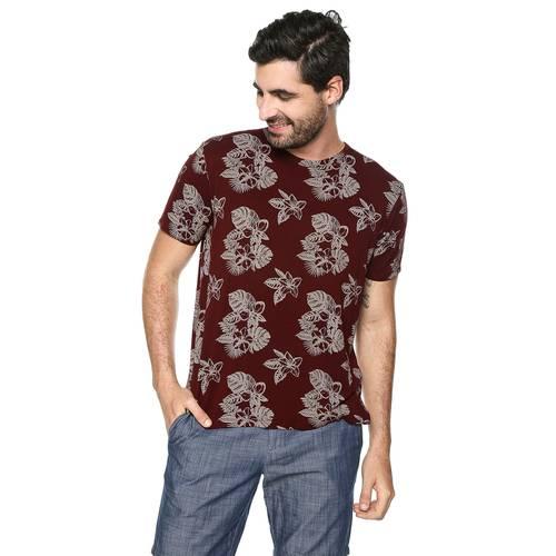Camiseta Rose Pistol para Hombre - Vino Tinto