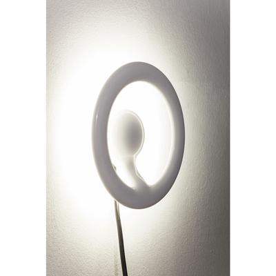 Lámpara pared Clip redondo blanco LED
