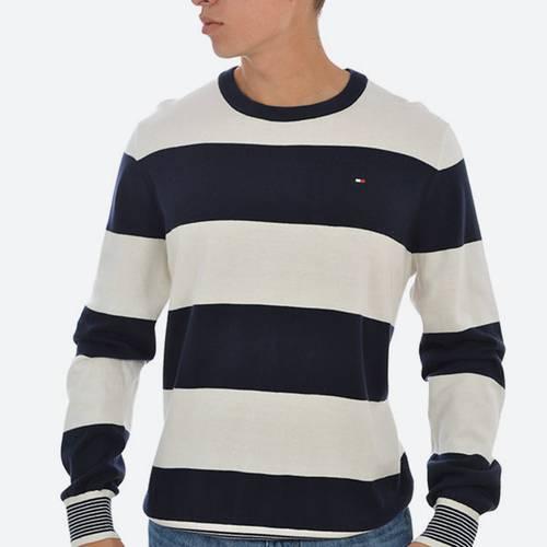 Sweater Ml C/R Rayas Navy Blazer-Pt / Sno 16-0 - Tommy Hilfiger
