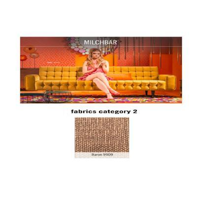 Sofá, 3 puestos, Milchbar, tela 2 - Baron 9909  (230x72x80cms)