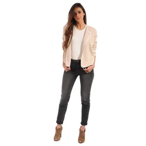 Blazer Tipped Color Siete Para Mujer - Rosado