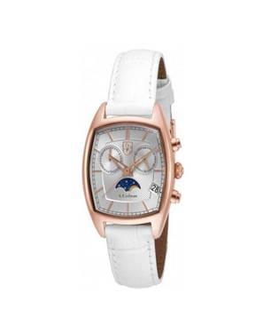 Reloj análogo plateado-blanco 0330