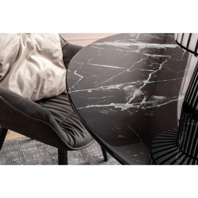 Mesa Solo Marble negro Ø 110cm