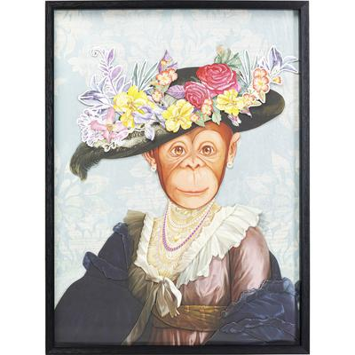 Cuadro Art Monkey Lady 80x60cm