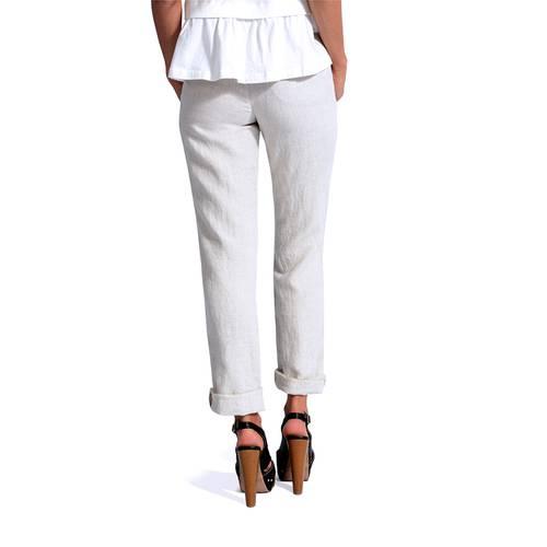 Pantalon Color Siete para Mujer - Beige