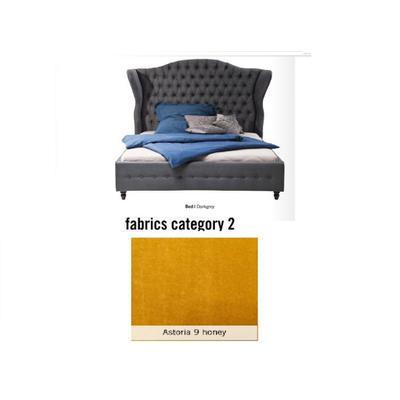 Cama City Spirit, tela 2 - Astoria 9 honey, (120x156x260cms), 200x200cm (no incluye colchón)