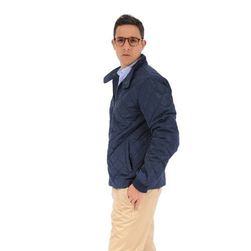 Chaqueta Color Siete Para Hombre  - Azul