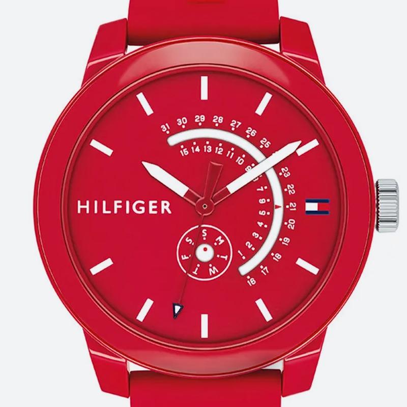 Reloj análogo rojo-rojo 1480
