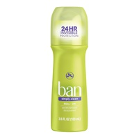 Ban Roll-On Antiperspirant Deodorant Simply Clean 103 Ml