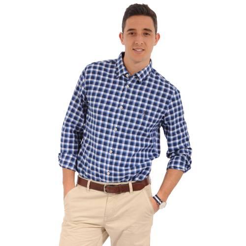 Camisa Manga Larga Miller Jack Supplies para Hombre- Azul