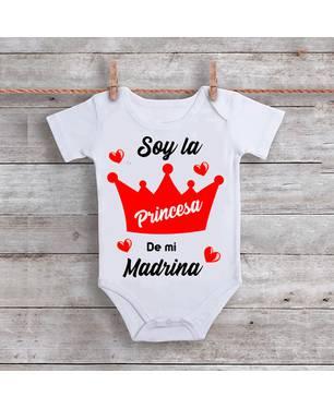 Mameluco Soy La Princesa De Mi Madrina Am-017 Blanco - Ingenio Creativo