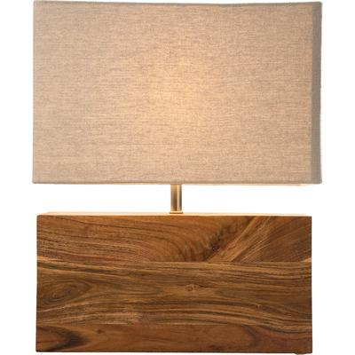 Lámpara mesa rectangular Wood natural