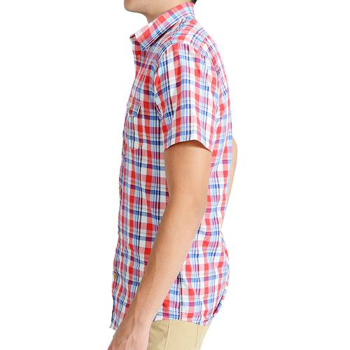 Camisa Manga Corta Hudson Color Siete para Hombre - Rojo