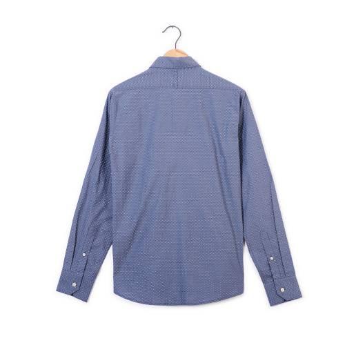 Camisa Manga Larga Murray Color Siete Para Hombre - Blanco