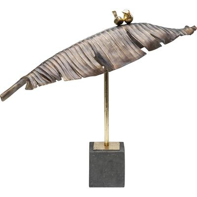 Objeto decorativo Birds Banana Leaf 54cm