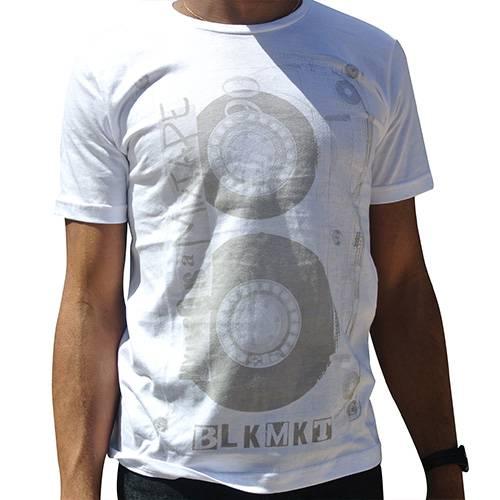 Camiseta Cuello Redondo Mixtape Blanco