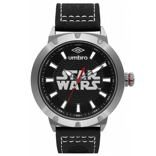 Reloj Análogo Plateado-Negro Umb-Sw01-3