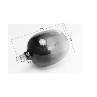 Bombilla Spiral LED gris