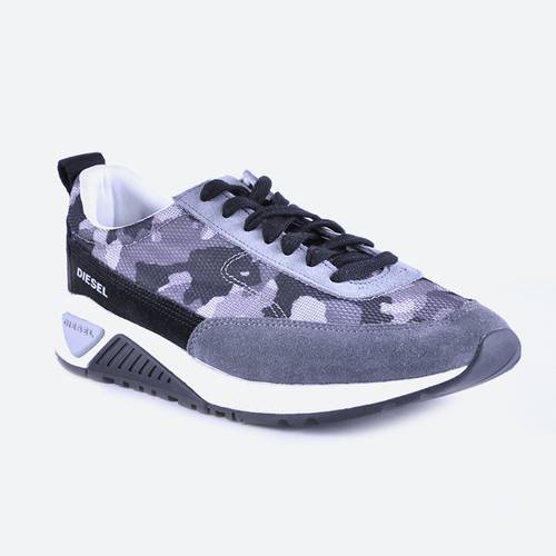 Zapatos S Kb Low Lace Negro Gris Camuflado