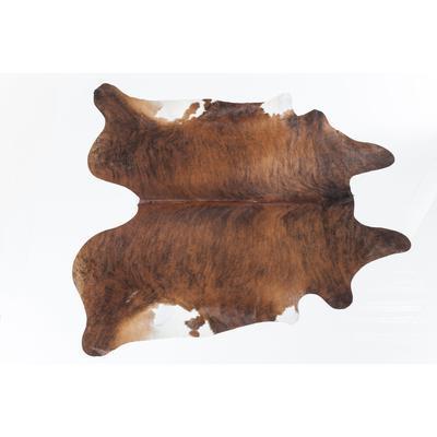 Alfombra Hide marrón-blanco