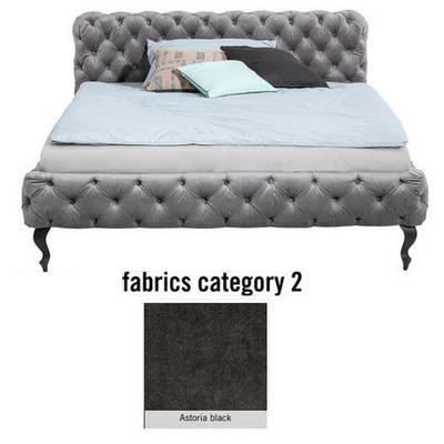 Cama Desire, tela 2 - Astoria Black, (100x177x228cms), 160x200cm (no incluye colchón)