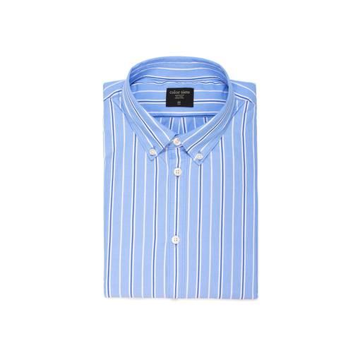Camisa Murray Manga Larga Color Siete para Hombre - Azul