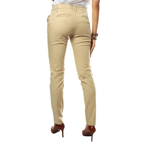 Pantalon Chino Color Siete para Mujer - Beige