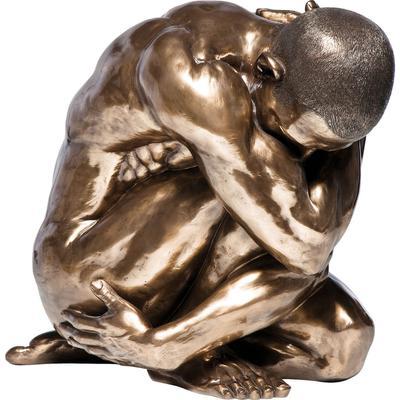 Figura decorativa Desnudo Hug bronce 54cm