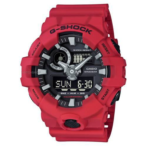 Reloj g-shock anadigi negro-rojo -4AD