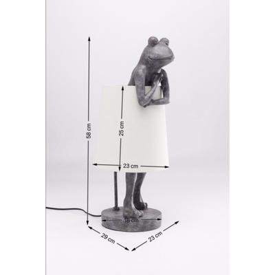 Lámpara mesa Animal Frog gris blanco