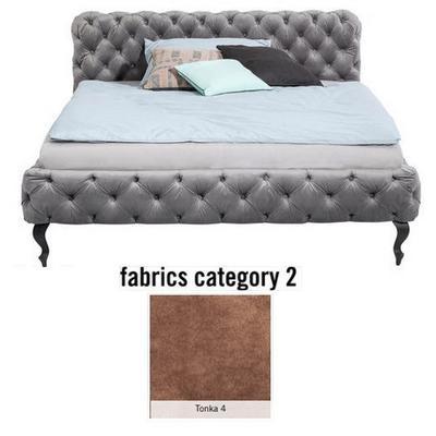 Cama Desire, tela 2 - Tonka 4, (100x197x228cms), 180x200cm (no incluye colchón)