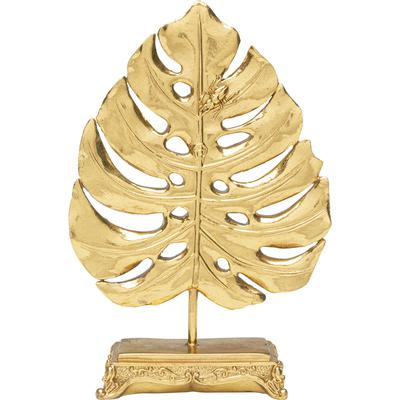 Objeto deco Monstera Leaf oro 26cm