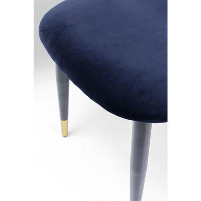 Silla Iris Velvet azul (2/Set)